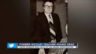 Former Nicolet High School teacher accused of sexual abuse found dead in garage - Video