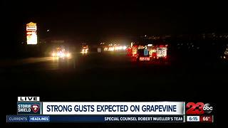 Grapevine seeing high winds as storm rolls through Kern County - Video