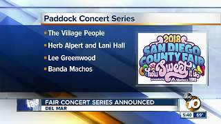 Fair concert series announced - Video