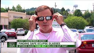 Eclipse watchers: Be sure to get safe, approved glasses before you look at the sun - Video