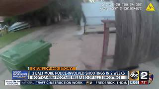 Body cam footage released in 3 Baltimore Police-involved shootings in 2 weeks - Video