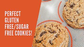 Bake With Me -- Gluten free/Refined Sugar Free Chocolate Chip Cookies