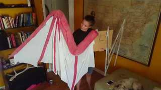 Game of Thrones Fan Shows Off Impressive Hand-Crafted Dragon Wing - Video