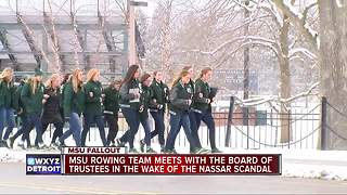 MSU rowing tam meets with Board of Trustees in wake of Nassar scandal - Video