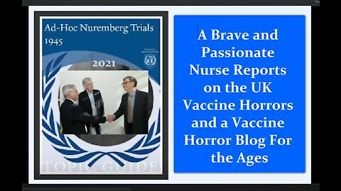 A Brave UK Nurse Reports on Vaccination Nightmares and a Vaccine Horror Blog For the Ages