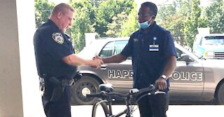 Police Officer Gives Stranger Bike
