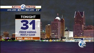 Another Freeze Warning