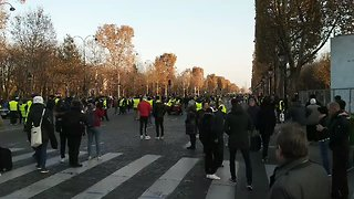 'Yellow Vest' Protests Continue in Paris for Second Day - Video