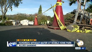 Hundreds without water since Thursday in Allied Gardens - Video