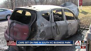 KCPD investigates arson at business park parking lot - Video