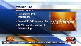 Walker Fire has burned over 38,000 acres in Plumas National Forest