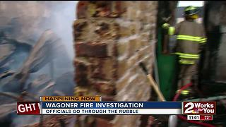 Officials investigate Wagoner fire damage - Video