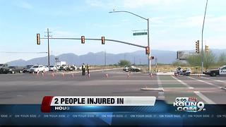 Two injured in morning wreck on eastside - Video