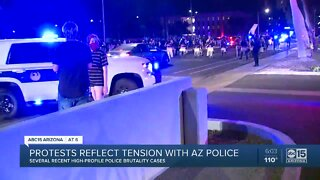 Protests reflect tension with Arizona police