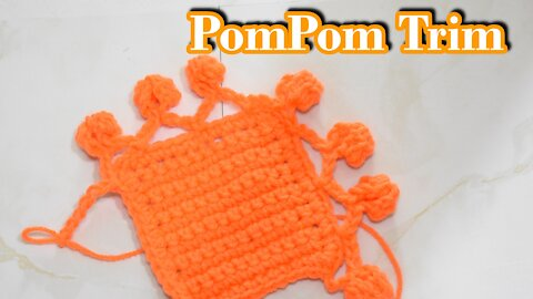 How to Crochet the PomPom Trim