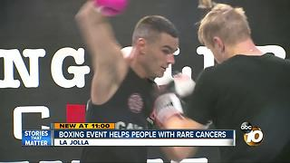 Boxing event helps people with rare cancers - Video