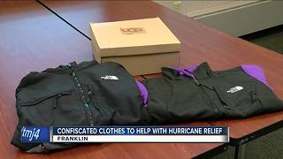 Franklin police donate confiscated fake UGG boots, The North Face jackets to Puerto Rico - Video