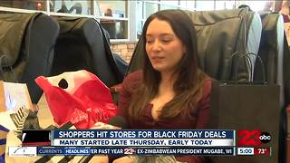 Shopper hit stores for Black Friday deals - Video