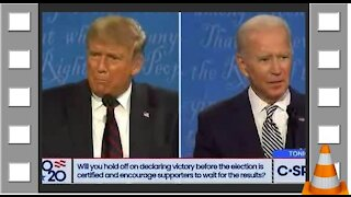Souvenir first debate Trump - Biden