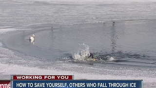 How to save yourself, others who fall through ice - Video