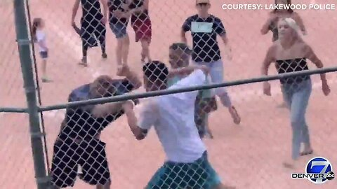 VIDEO: Fight breaks out between parents during youth baseball game in Lakewood