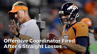 Offensive Coordinator Fired After 6 Straight Losses - Video