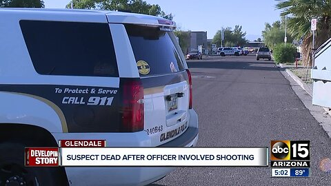 Suspect dead after officer-involved shooting in Glendale