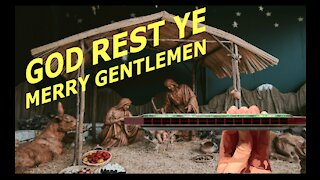 How to Play God Rest Ye Merry Gentlemen on a Tremolo Harmonica with 16 Holes