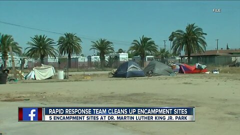 Rapid Response team Cleans Up Homeless Encampment Sites