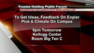 MSU board of trustees holding public meeting - Video