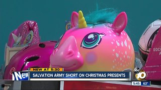 Salvation Army short on Christmas presents