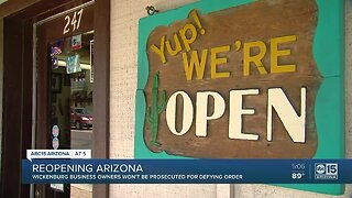 Wickenburg business owners not prosecuted after defying orders