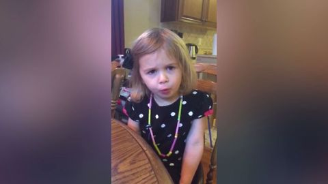 Girl Adorably Fails At Whistling