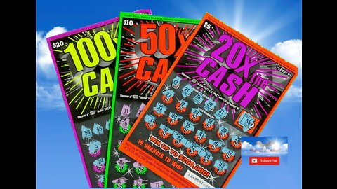 WINNER! 20X the CASH 50X the CASH 100X the CASH Scratchers