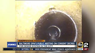 Baltimore DPW's meeting on consent decree for sewer system - Video