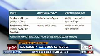 Lee County officials asking you to conserve water