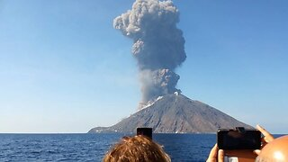 Teen Releases Horrifying Footage Of Stromboli Eruption As He Sailed By On Boat