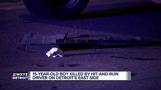 15-year-old killed by hit-and-run driver on Detroit's east side - Video