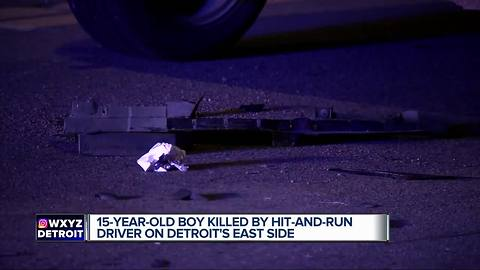 15-year-old killed by hit-and-run driver on Detroit's east side