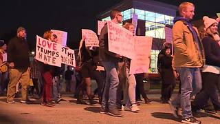 Akron Anti-Trump protest - Video