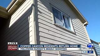 Life slowly returning to normal after police shooting at Copper Canyon apartments - Video