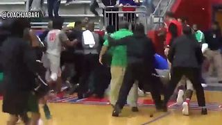 High School teams brawl after game - Video