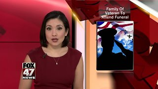 Family of veteran expected to attend funeral - Video