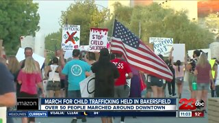 Child trafficking march takes place in downtown Bakersfield