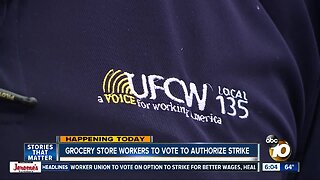 Grocery store workers to vote to authorize strike