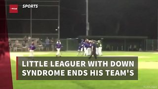 Little Leaguer With Down Syndrome Ends His Team's Season In Incredible Fashion - Video