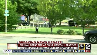 Congressman shot, critically injured at practice - Video