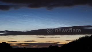 Cool time-lapse footage of noctilucent clouds over Northern Ireland