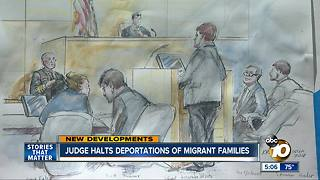 Judge temporarily halts family deportations - Video