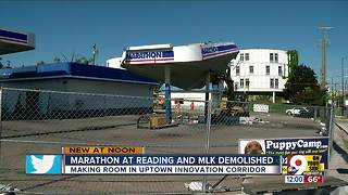 Uptown Cincinnati gas station demolished to make way for development - Video